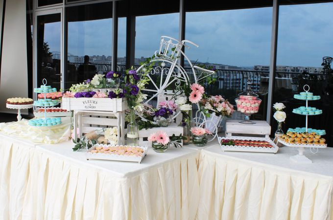 Rustic Wedding Dessert Table by Manna Pot Catering - 021