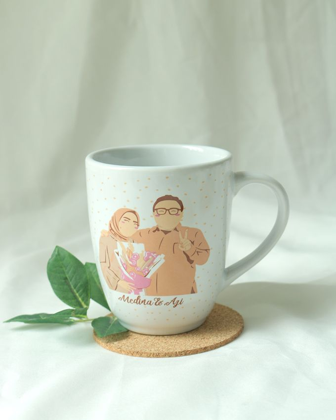 Souvenir Mug Corning by Mug-App Wedding Souvenir - 004
