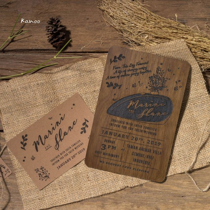 Wedding Invitation - Rustic Wooden by Kanoo Paper & Gift - 002