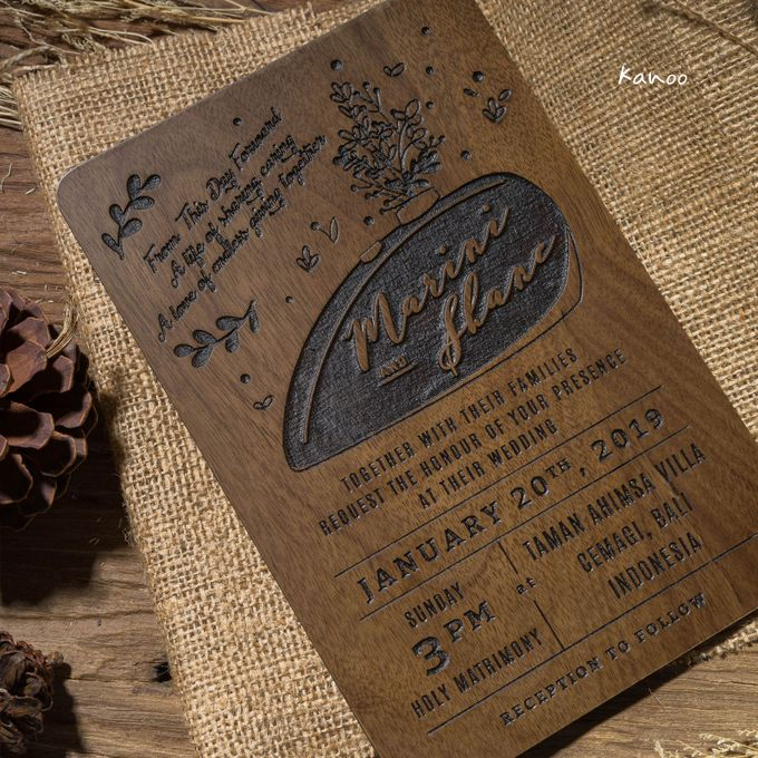 Wedding Invitation - Rustic Wooden by Kanoo Paper & Gift - 004