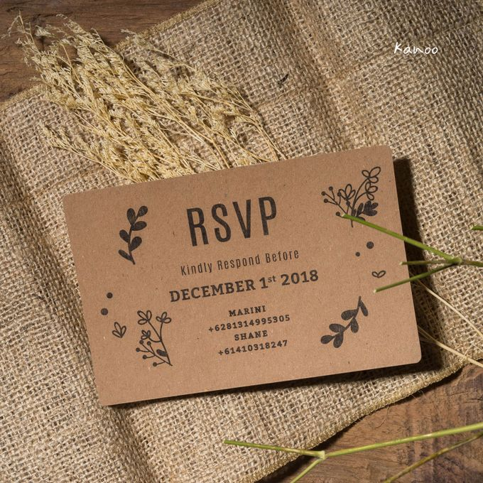 Wedding Invitation - Rustic Wooden by Kanoo Paper & Gift - 005