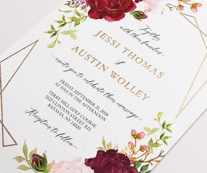 Marsala Blush by Trouvaille Invitation - 003