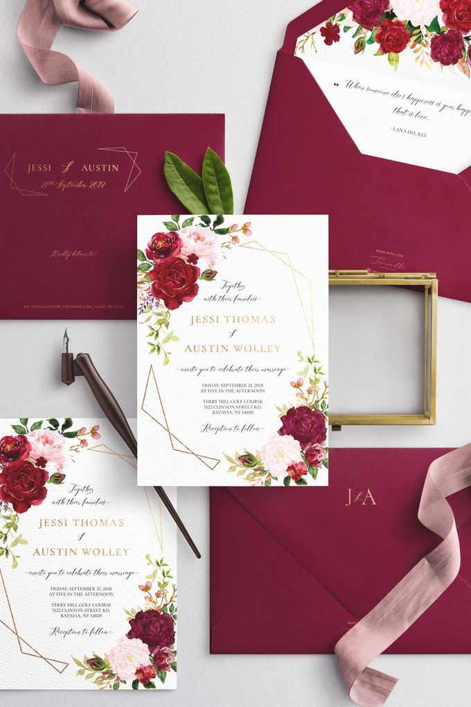Marsala Blush by Trouvaille Invitation - 002