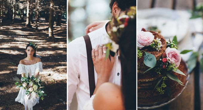 INTIMATE WOODLAND ELOPEMENT INSPIRATION by Sweetphotofactory - 012
