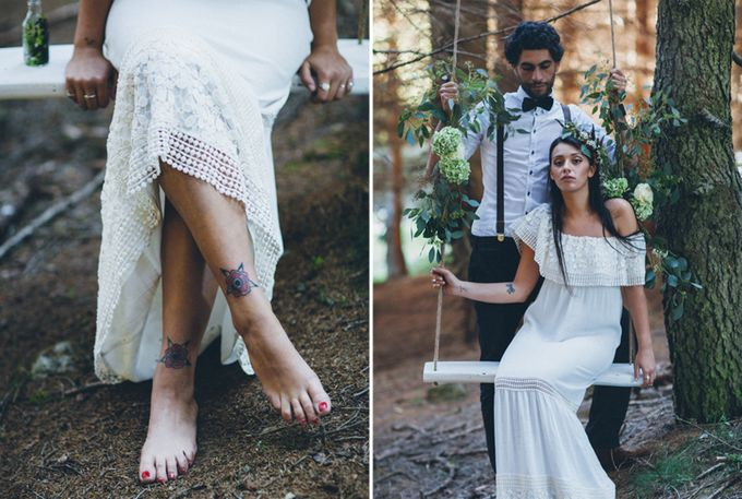 INTIMATE WOODLAND ELOPEMENT INSPIRATION by Sweetphotofactory - 013