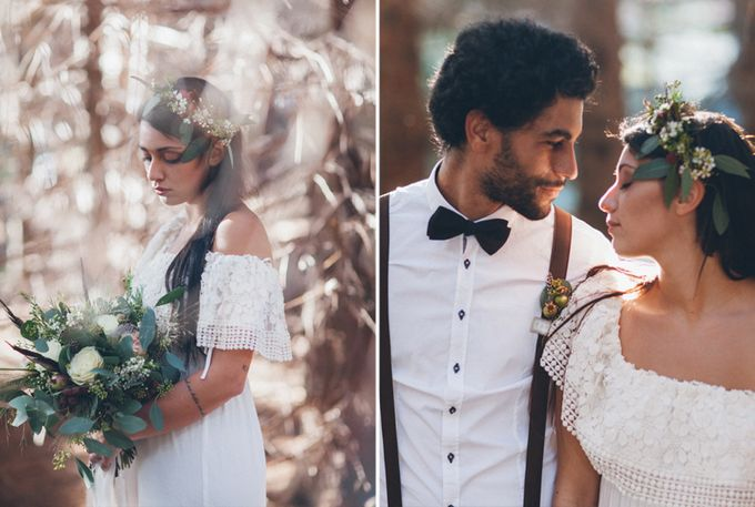INTIMATE WOODLAND ELOPEMENT INSPIRATION by Sweetphotofactory - 016