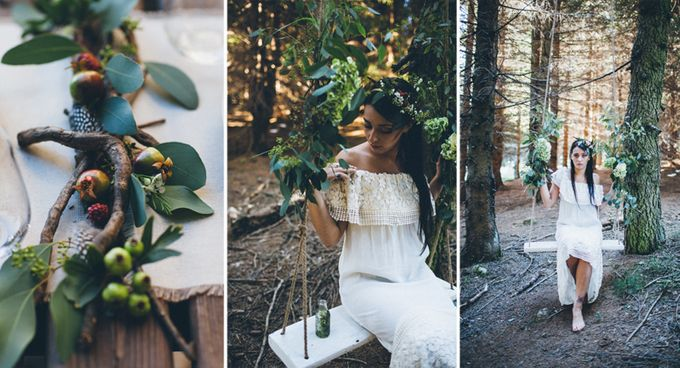 INTIMATE WOODLAND ELOPEMENT INSPIRATION by Sweetphotofactory - 018