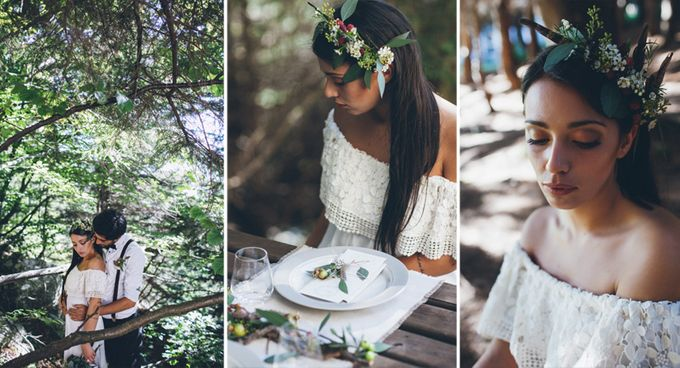 INTIMATE WOODLAND ELOPEMENT INSPIRATION by Sweetphotofactory - 019