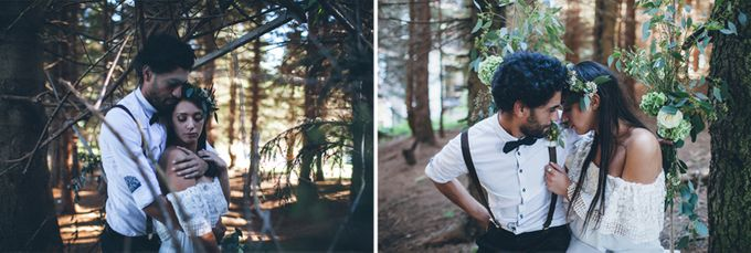 INTIMATE WOODLAND ELOPEMENT INSPIRATION by Sweetphotofactory - 020