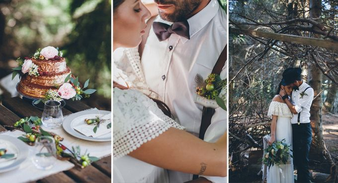 INTIMATE WOODLAND ELOPEMENT INSPIRATION by Sweetphotofactory - 005