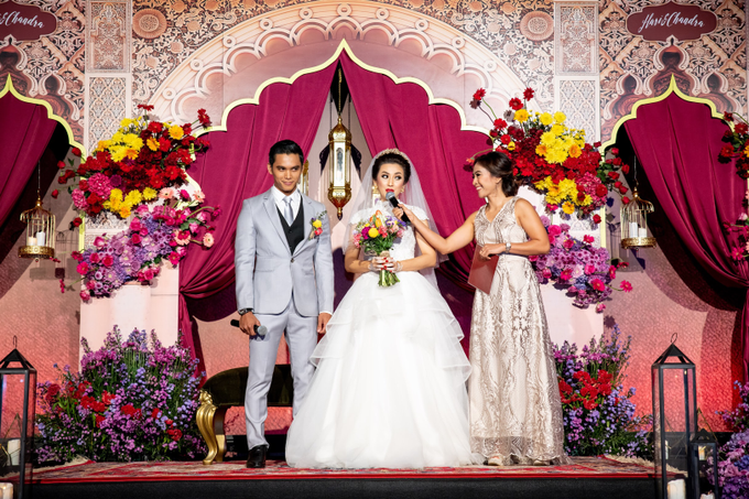 Indian-themed Wedding Reception of Hari & Chandra by MC Nirmala Trisna - 010