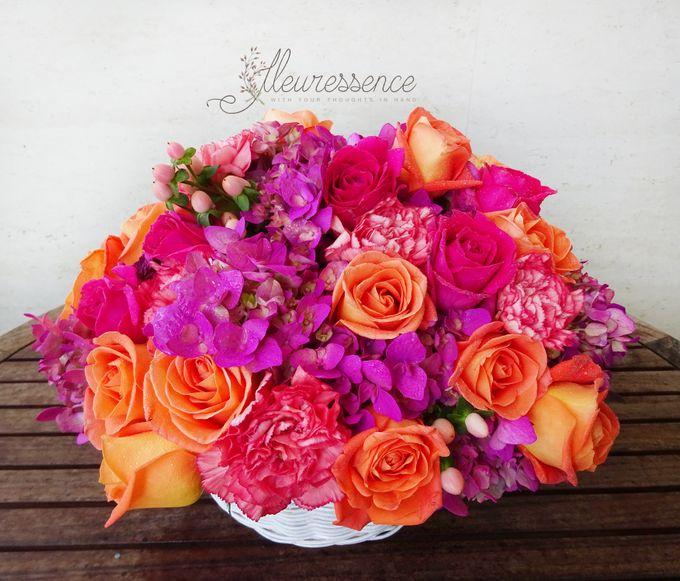 FLOWER BASKET AND VASE by Fleuressence - 005
