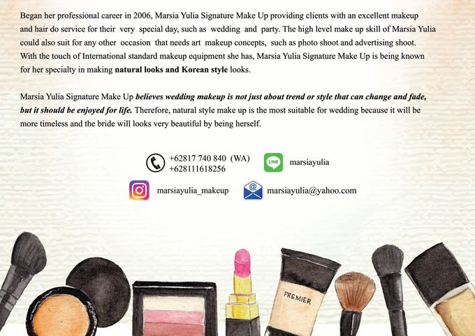 Natural & Korean MakeUp Specialist by Marsia Yulia Signature. Natural and Korean Make Up Specialist. - 001