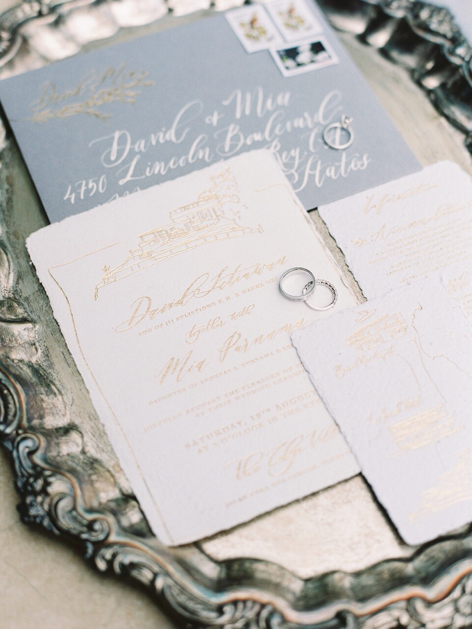 David and Mia Wedding Invitation Suite by Meilifluous Calligraphy & Design - 002