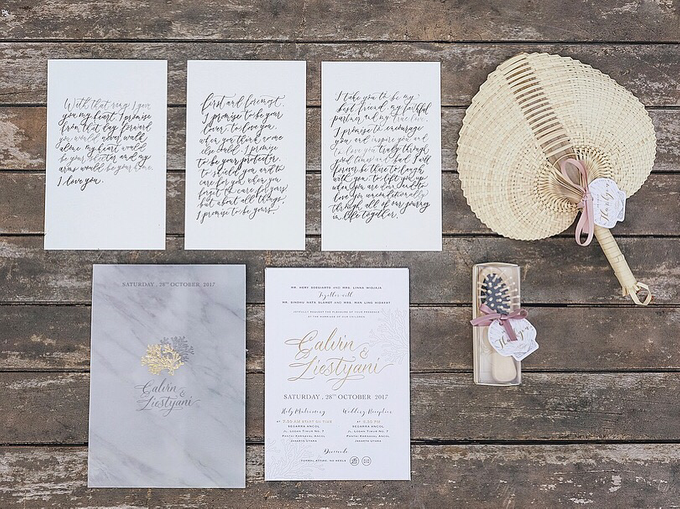 Calvin & Liestyani Wedding by Memoir Paperie - 001