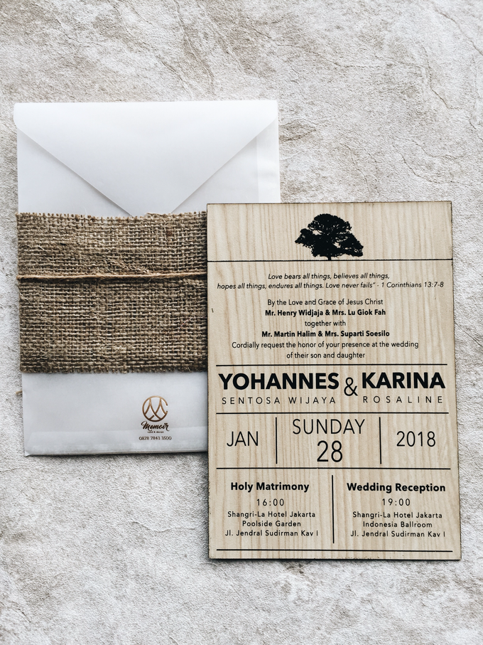 Classic Wood of Yohannes & Karina by Memoir Paperie - 001