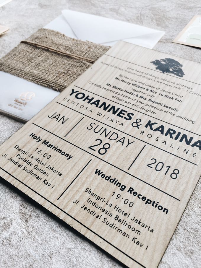 Classic Wood of Yohannes & Karina by Memoir Paperie - 002