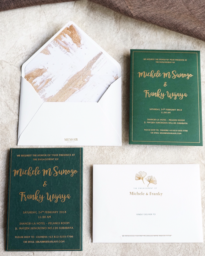 """The Wedding of """"Michelle & Franky"""" by Memoir Paperie - 001"""