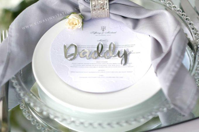 Tiffany & Michael - stationary by Vinas Invitation - 001