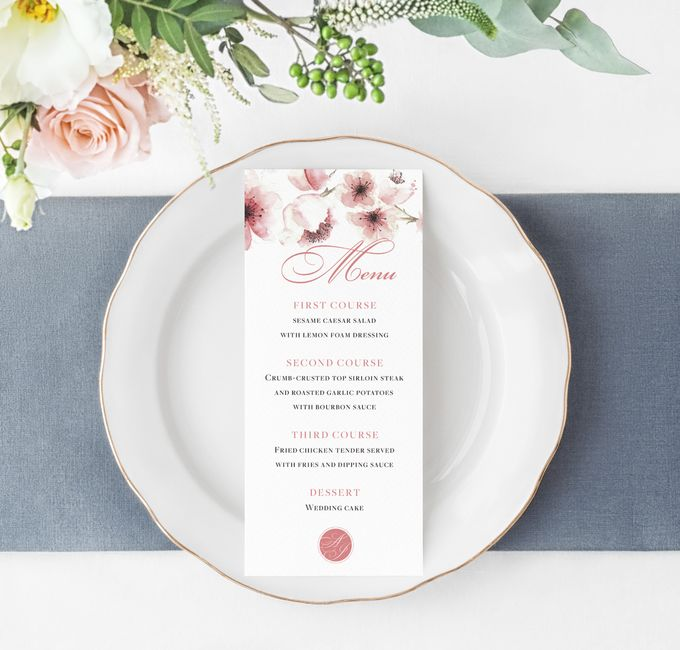 Cherry Blossom by Trouvaille Invitation - 003