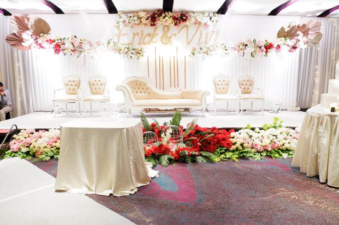 Lobby Area Wedding Erick & Vivi by Mercure Jakarta Sabang - 017