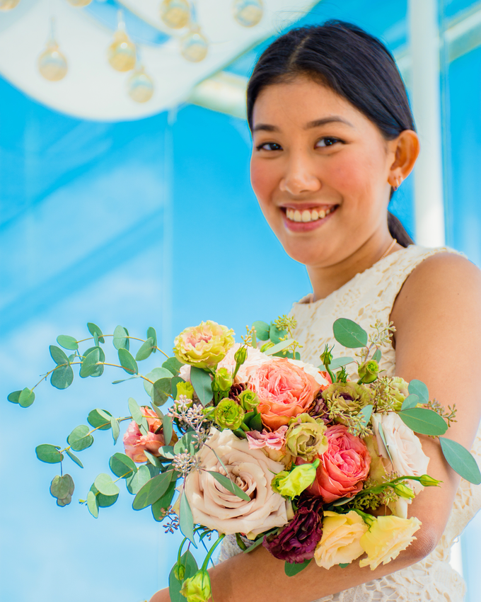 Bright and Beautiful Bridal Bouquet by Mfreshflowers - 001
