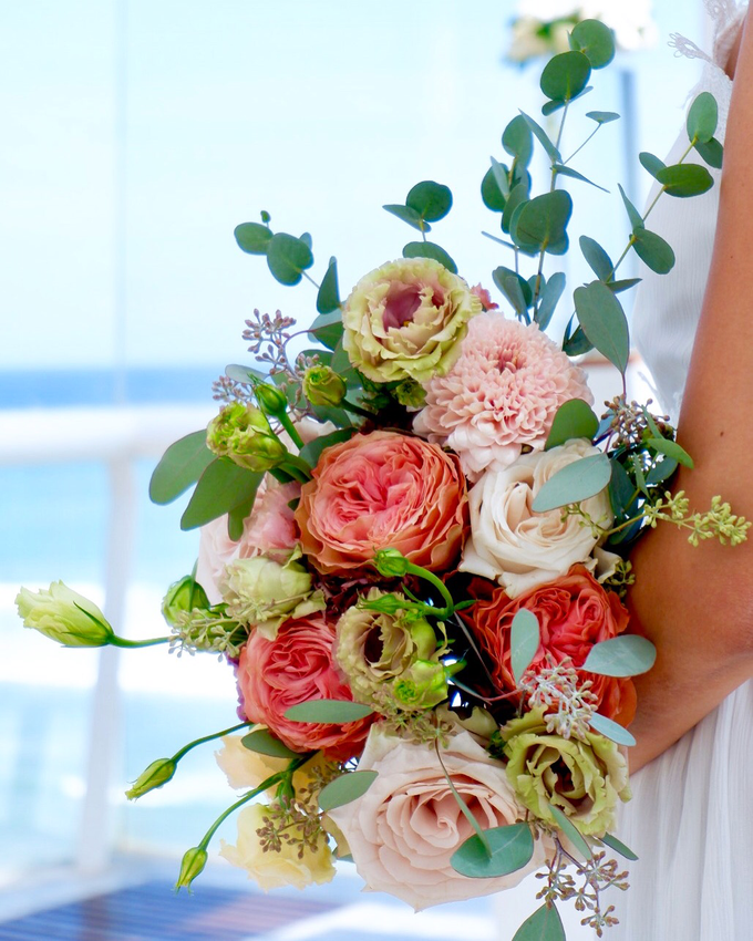 Bright and Beautiful Bridal Bouquet by Mfreshflowers - 002