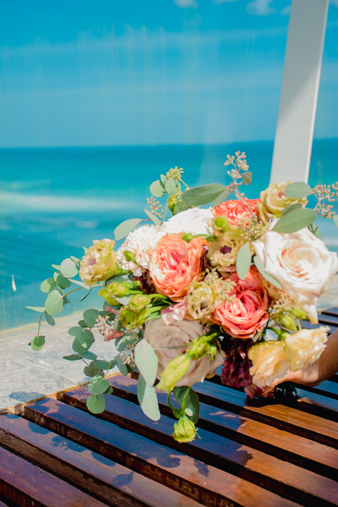 Bright and Beautiful Bridal Bouquet by Mfreshflowers - 005