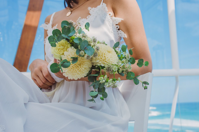 Petite And Sweet Bridal Bouquet by Mfreshflowers - 001
