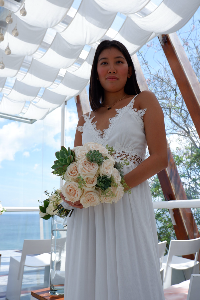 Rose and Succulent Bridal Bouquet by Mfreshflowers - 003