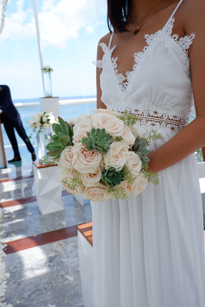 Rose and Succulent Bridal Bouquet by Mfreshflowers - 004
