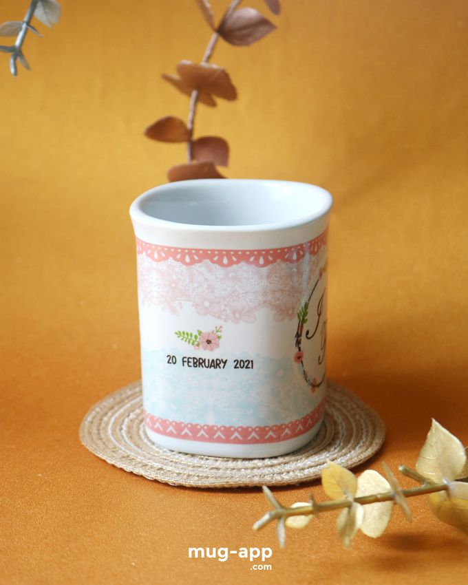 Mug Nescafe Mini I & F by Mug-App Wedding Souvenir - 001
