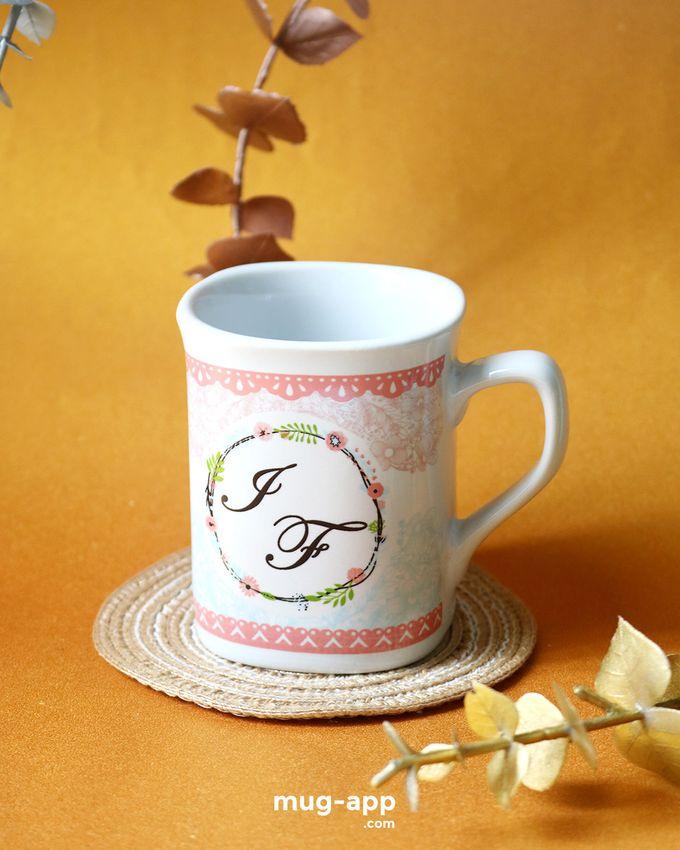 Mug Nescafe Mini I & F by Mug-App Wedding Souvenir - 002
