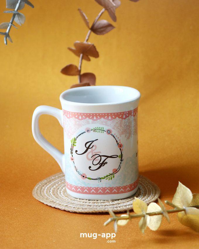 Mug Nescafe Mini I & F by Mug-App Wedding Souvenir - 003