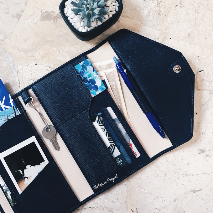 Customized travel wallet ( Wedding Souvenir ) by Molusca Project - 002