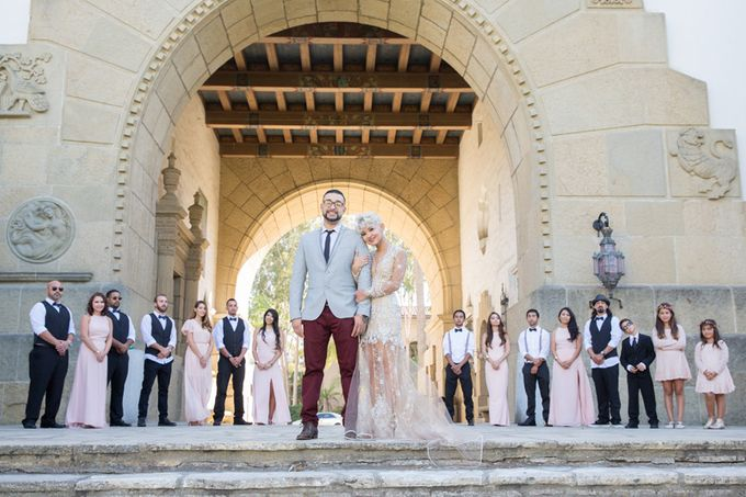 Modern, Fashion forward wedding at The Montecito Country Club by Kiel Rucker Photography - 011