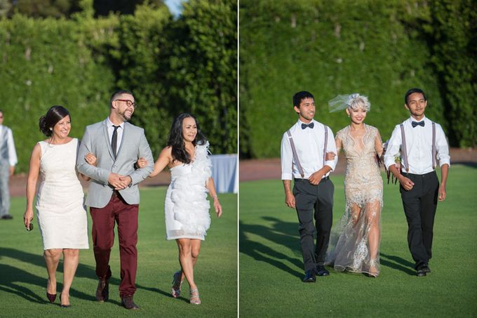 Modern, Fashion forward wedding at The Montecito Country Club by Kiel Rucker Photography - 017