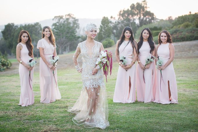 Modern, Fashion forward wedding at The Montecito Country Club by Kiel Rucker Photography - 025