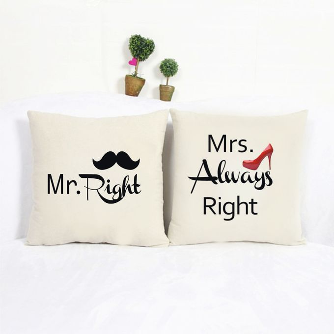 Bantal Sofa dekorasi wedding Bride and Groom by Dior Gift - 004