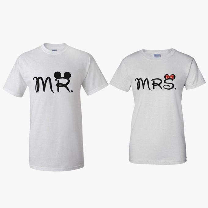 T-Shirt Couple Vintage lucu dan Kaos Bride & Groom by Dior Gift - 011