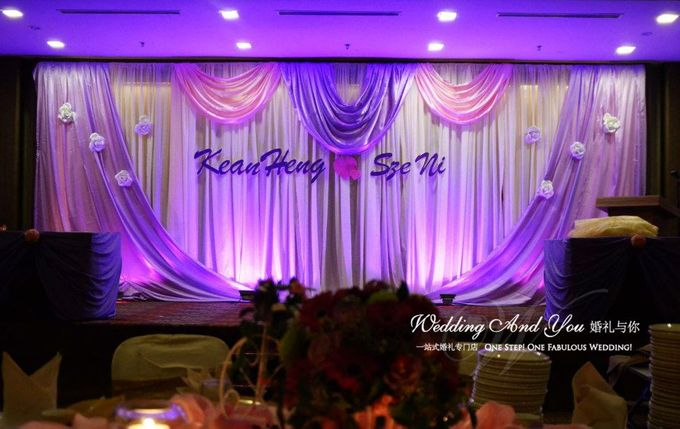 Stage Backdrop Design by Wedding And You - 026