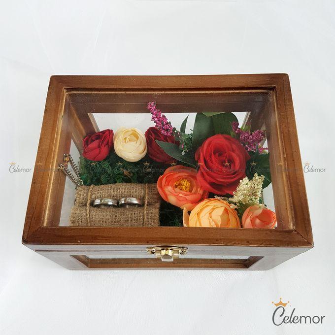Multi View Box - Politur Coklat   Wedding Ring Bearer Box Indonesia - Celemor by Celemor - 002