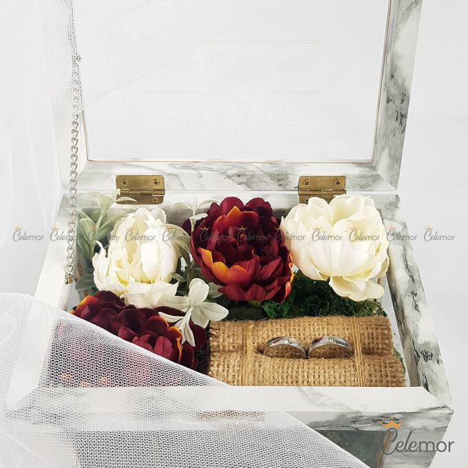 Multi View Box - Marble | Wedding Ring Bearer Box Indonesia - Celemor by Celemor - 012
