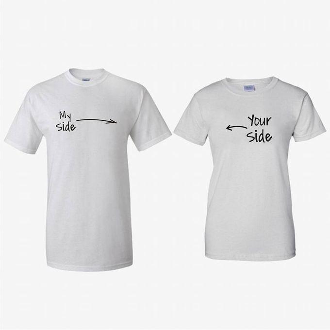 T-Shirt Couple Vintage lucu dan Kaos Bride & Groom by Dior Gift - 003