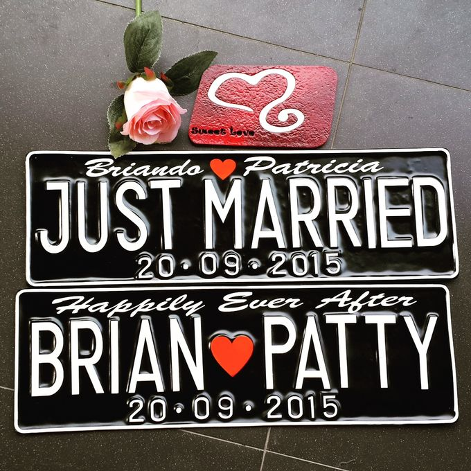 Wedding Car Plate by Sweetlovecollection - 025
