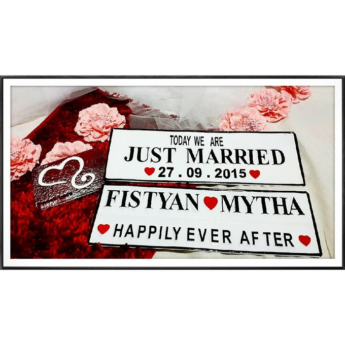 Wedding Car Plate by Sweetlovecollection - 024