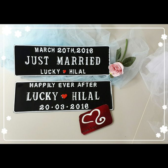 Wedding Car Plate by Sweetlovecollection - 002