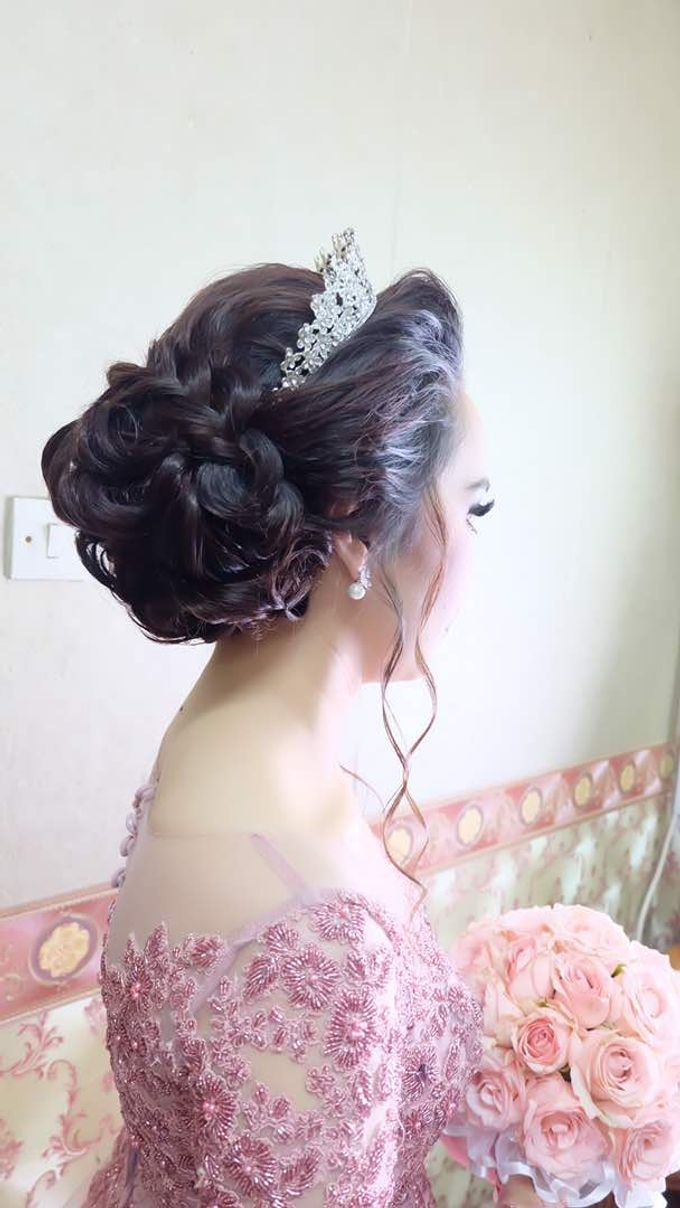 Hairdo bride by Makeup And Hairdo By iis - 006