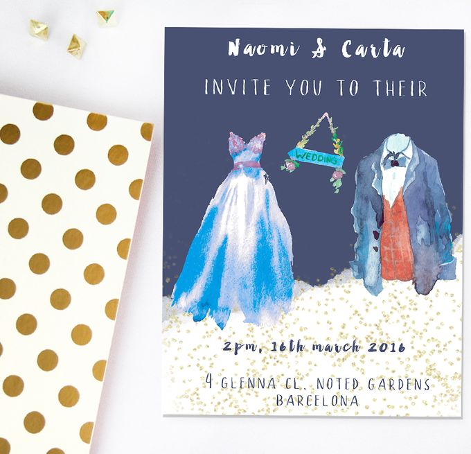 Dreamy watercolours by She.Fox Invitations - 001