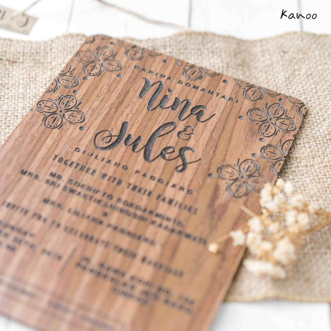 Wedding Invitation - Wood by Kanoo Paper & Gift - 004
